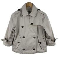 Burberry London Womens Coat Jacket Size Small AU 6-8 Beige 3/4 Sleeve Nova Check