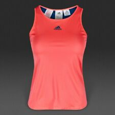 Adidas Girls Pro Tank Top Sports Tennis Fitness Strap Shirt UV Protection Red