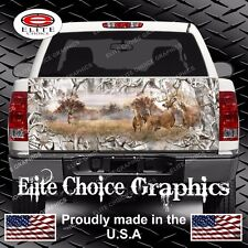 Whitetail Buck Deer Buck Snow Camo Truck Tailgate Wrap Vinyl Graphic Decal Wrap