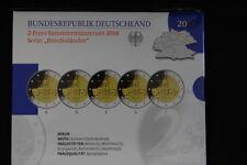 Offizieller Blister mit 2 Euro Schloss Charlottenburg 2018 ADFGJ in Spiegelglanz