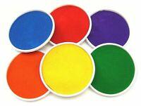 6 X Colore Set Grande 15cm Inchiostro Timbri Pastiglie Dita Piede Mano Palma