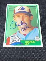 CHARLIE LEA 1981 O-PEE-CHEE # 293  Rookie Signed Autographed Montreal Expos AUTO