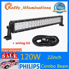 Philips 22'' 120W Led Light Bar Spot&Flood Driving 12V24V+on/off Control Wiring