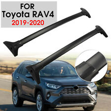 Fit For Toyota RAV4 2019-2020 Roof Rack Cross Bar Top Carrier Aluminum Black
