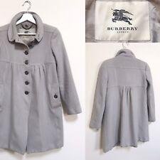 Burberry Coat Cashmere Wool Blend Grey Winter Swing Princess Coat S XS UK 6