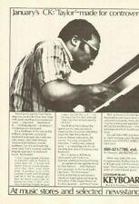 1978 Avant-garde pianist Cecil Taylor Contemporary Keyboard Vintage Magazine Ad