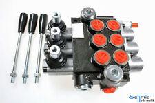 Hydraulik Steuerventil 3 Hebel Handhebelventil Steuergerät 50 Liter 3 Sektionen