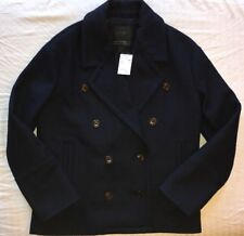 J.Crew Melton Wool Peacoat 0 NWT Wool Coat B6474 Navy Blue