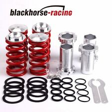 "1-4""LOWERING SCALED SUSPENSION COILOVER RED SPRING FITS 88-00 CIVIC EG EJ EK/DC"