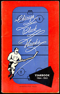 1964-65 CHICAGO BLACK HAWKS YEARBOOK WITH BOBBY/DENNIS HULL PHIL ESPOSITO RC YR