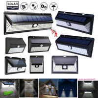 Solar Power LED PIR Motion Sensor Wall Light Outdoor Garden Waterproof Lamp