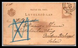 GP GOLDPATH: HUNGARY POSTAL CARD 1892 _CV561_P29