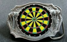 DART BOARD SHOOTERS THROWERS DARTS SPORT COLORFUL DETAILED BELT BUCKLE NEW