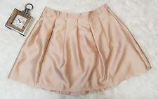 Lane Bryant Skirt 24 Pleated Satin Sateen Gold Beige Plus