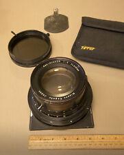 """APO-NIKKOR 610mm  f9 lens Mounted on Sinar lensboard: w / 4½"""" Tiffen POLARIZER"""
