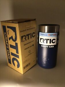 RTIC Craft Can Koozie 16 oz. Freedom Blue  - Stainless Steel Double Wall Vacuum