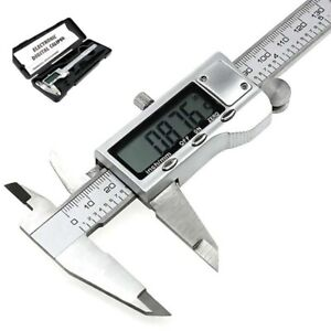 Metal 150mm 6-inch Stainless Steel Electronic Digital Vernier Caliper Micrometer