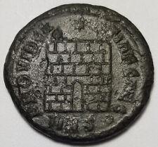 Ancient Roman Empire Coin Constantius II 324-337AD Camp Gate