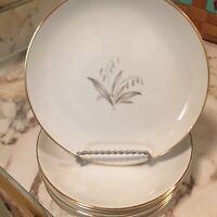 Vintage Fine China Kaysons Golden Rhapsody Dessert Plates Set Of Six