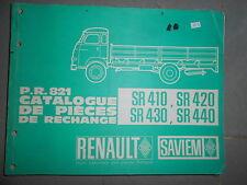 SAVIEM SG4 Super Galion : catalogue pièces détachées PR821 1965