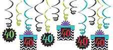 40th Celebration Value Pack Swirl Decorations~40th Birthday Party Favor Supplies