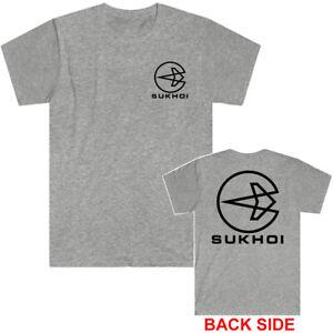SUKHOI Company Logo Men's Grey T-Shirt Size S to 5XL