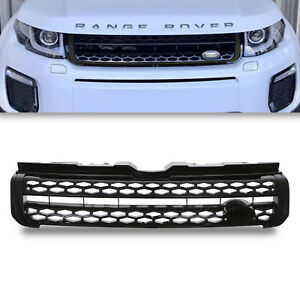 BLACK PRESTIGE STYLE LOOK FRONT GRILL GRILLE FOR RANGE ROVER EVOQUE L538 16-