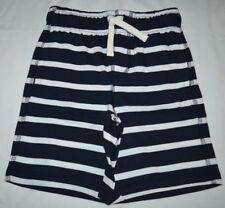 Gymboree Mix N Match Dark Blue & White Striped Cotton Shorts S 5 6 Kid Boys NWT