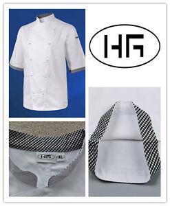 Chef Jacket Short Sleeves Classic Uniform Poly-cotton Hospitality Garments
