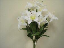Best Artificial 45cm Stargazer Lillies 10 Head Flower Spray Bunch lily decor new