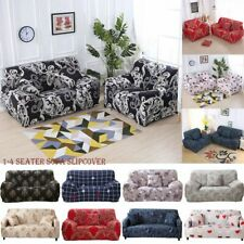 1/2/3/4 Floral Sofa Covers Slipcover Elastic Stretch Settee Protector Couch New