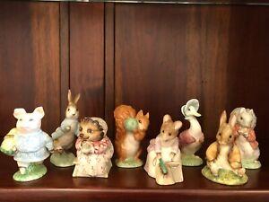 Eight Royal Albert Beatrix Potter Figurines - Used - 1989