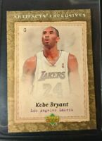 2007-08 Upper Deck - Kobe Bryant LA Lakers - ARTIFACTS EXCLUSIVES CARD #229