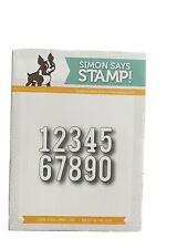 Simon Says Stamp Simple Numbers dies