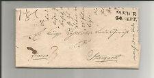 Preussen V / MEWE 24. SEPT., L2 auf Kabinett-Tax-Brief m. Inhalt 1829