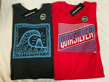 "New, Lot of 2, Quiksilver Men's ""Vibrant Tribal"" T-Shirts, Medium, Slim Fit"