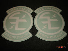"2 Authentic SHADOW Conspiracy BMX BIANCO ""SC"" logo Adesivi Decalcomanie #12 aufkleber"