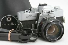 Minolta SRT 303, vintage 35mm SLR camera & MC Rokkor-PG lens 1:1,4/50mm