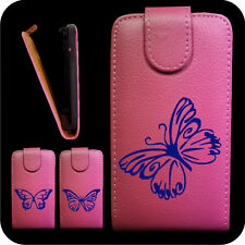 IDM CUSTODIA COVER CASE FUCSIA FARFALLE BLU X Samsung S7500 GALAXY ACE PLUS