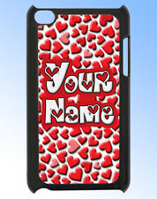 IPOD TOUCH 4 PERSONALISED HEART DESIGN REAR COVER / CASE -GREAT GIFT & NAMED TOO