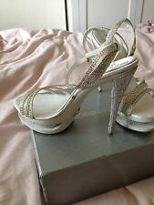 LADIES STUNNING PROM WEDDING RACES DRESS SHOES SANDALS HEELS SIZE 5 EU 38 NEW