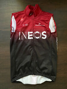 Castelli Team INEOS Midweight Thermal Vest Team Issue Red Fleece Thick Warm