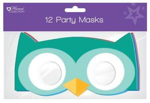 Owl Woodland 12 Party Masks Dress Up Birthday Childrens Party Owls 3 Colours UK