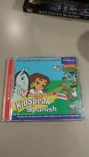KidSpeak Spanish PC MAC CD excellent used condition learning children's Espanol
