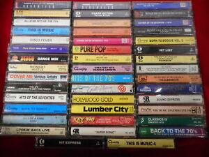 Large Lot of Cassettes - 44 - 1970s Disco Fever, Groovy, Right On, Super Sonic