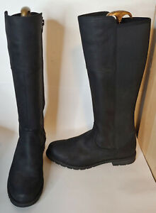 Ariat Sutton H20 Waterproof Tall Black Boots 11B English Country Tall Knee Stret