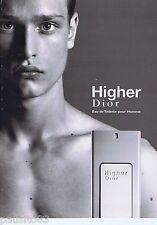 PUBLICITE ADVERTISING 115 2001 Christian Dior Higher eau de toilette