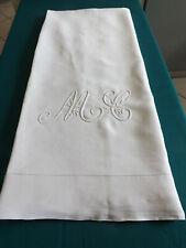 drap, PUR fil de lin, 2.40 m X 3.53 m, mono M C, ancien