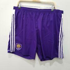 New Adidas Orlando City Mens Size 2XL Shorts Purple Elastic Waist Drawstring NWT