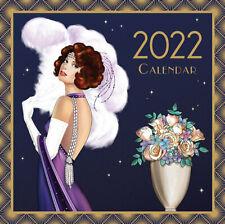 More details for 2022 art deco claire coxon square calendar planner gift xmas classic